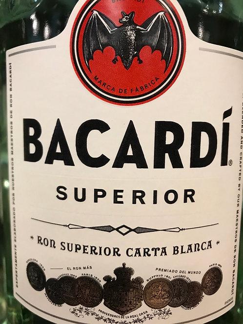 BACARDI RUM SUPERIOR -  375ML