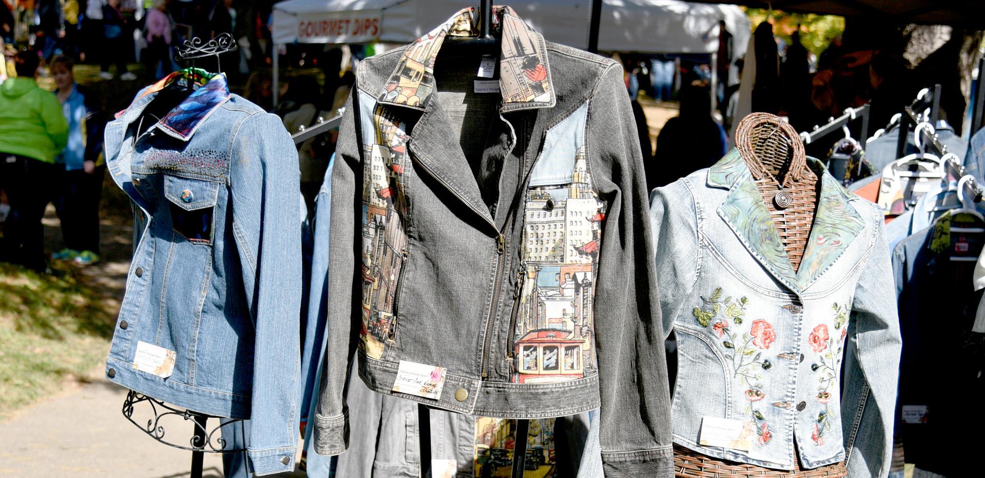 Adorned Fabric Jackets