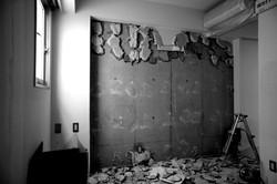 崩れた壁(崩した)