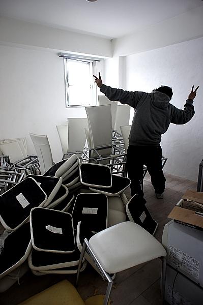 椅子もリメイクするよー