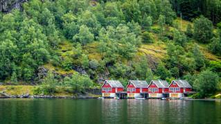 Scandinavische vissershuisjes