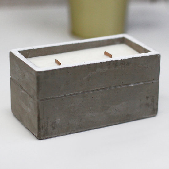 Spiced South Sea Lime Concrete Candle