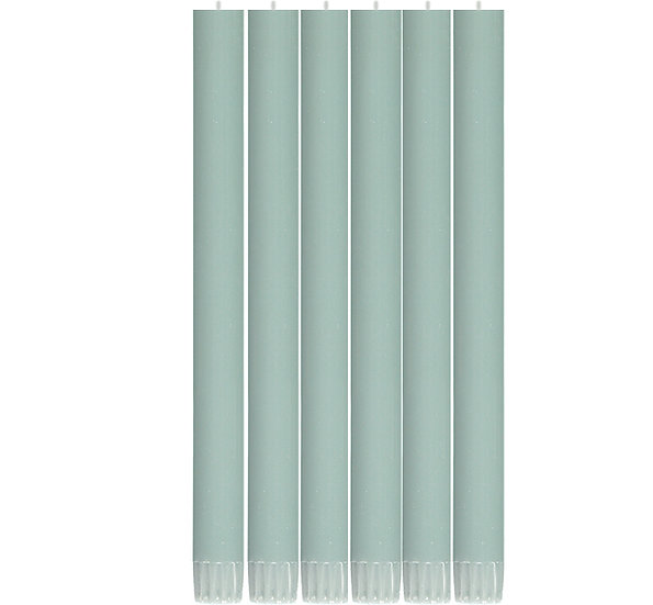 Opaline Green Eco Dinner Candles
