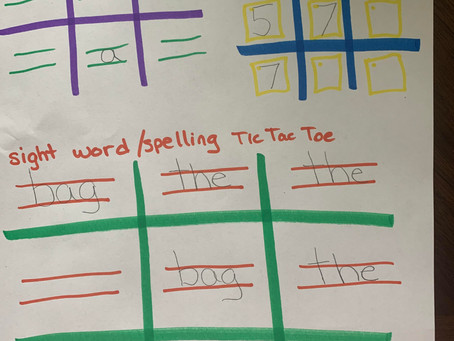 Tic Tac Toe: Letter/Number/Word