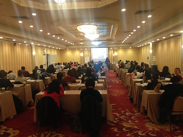 OT Kim Wiggins presenting to 90 people in Manhattan, NY.