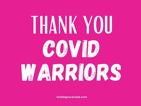 COVID WARRIOR Yard Sign