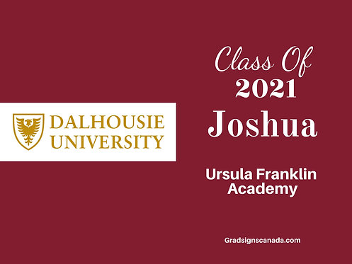 Personalized Graduation Yard Sign with School Logo