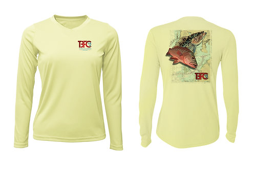Women's Yellow Grouper & Snapper Shirt