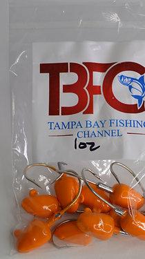 1 oz jig head 10pc per bag Orange