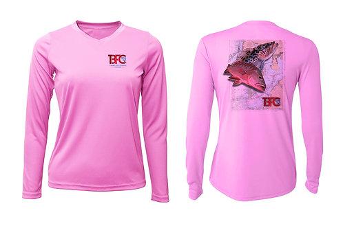 Women's Pink Grouper & Snapper Shirt