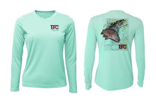 Women's Turquoise Grouper & Snapper Shirt
