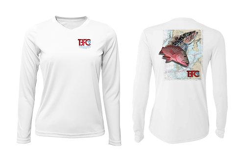 Women Grouper Shirt White