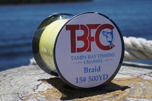 TBFC 15# Yellow Braided Line