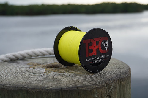 8Lb Braided Fishing Line 500yds Yellow