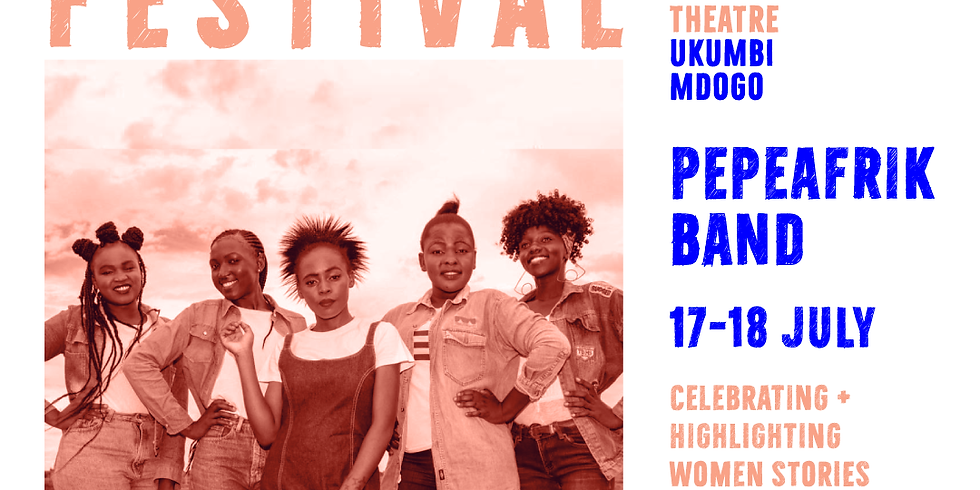 Pepea Afrik live at Dadas Festival at the Kenya National Theatre.