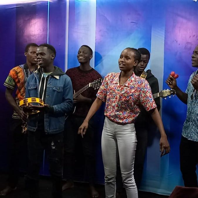 The New music band joining Manzi Rada live on local TV.