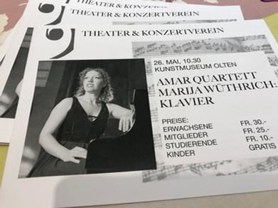 Mozart Piano Concerto KV 414 with AMAR Quartett