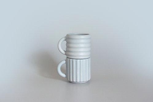 Ripple Espresso Cups Set of 2 - Grey