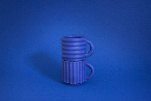 Ripple Espresso Cups Set of 2 - Cobalt
