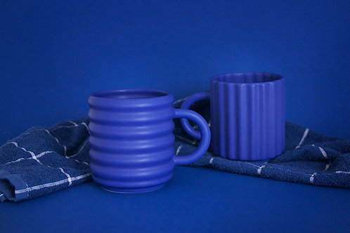 Ripple Mugs Set of 2 - Cobalt