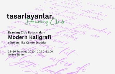 Drawing Club'ta Modern Kaligrafi öğrenmeye devam ediyoruz!