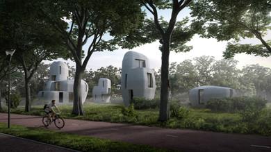 Dünyanın ilk 3D baskı evleri Eindhoven'da inşa ediliyor!
