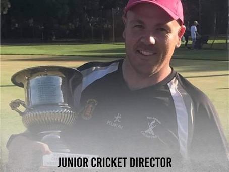 Chris Webber Appointed Junior Cricket Director
