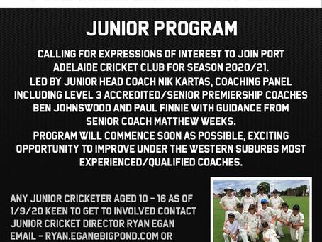 Junior Program Season 2020/21