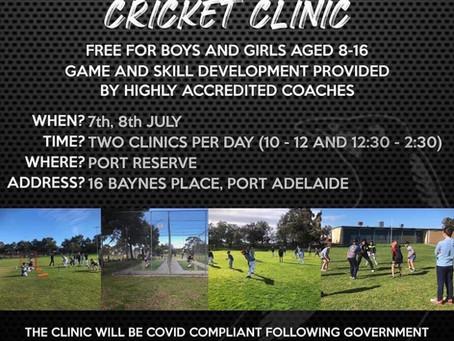 School Holiday Cricket Clinic