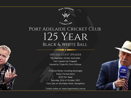 Port Adelaide Cricket Club 125 Year Black & White Ball