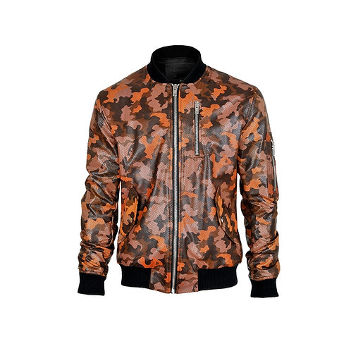 SSD-471 Perforated Leather Camo Jacket