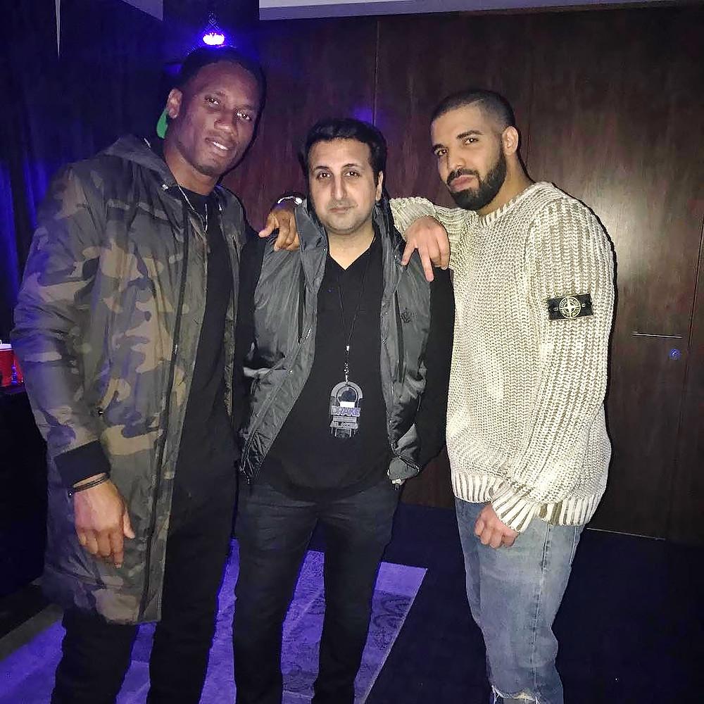 Didier Drogba with Drake