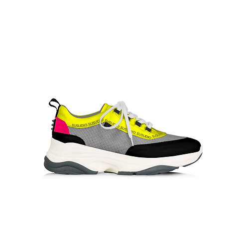 SSD-SBSR High sole low top mesh sneakers fluo
