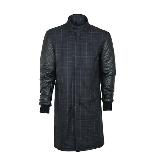 SSD-815 Long Diamond Leather Jacket