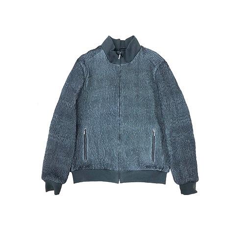 SSD-845 Wrinkled Elastic Leather Jacket