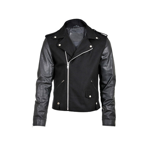SSD-220 Half Wool Leather Jacket