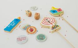עוגיות מעוצבות לחנוכה
