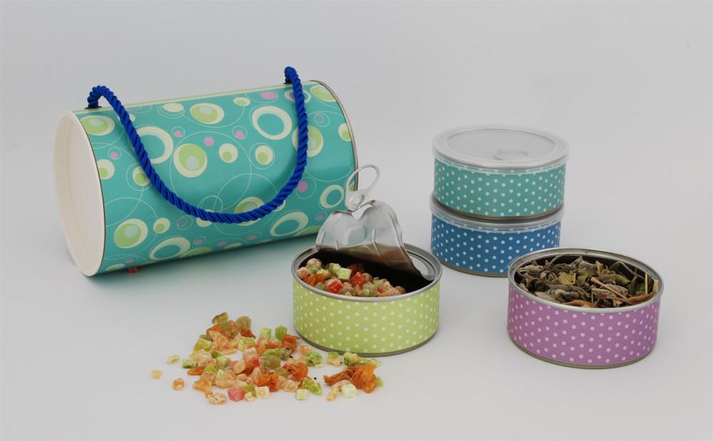 תיק ההפתעות_מארז חליטות תה ופירות בקופסת תיק מעוצבת