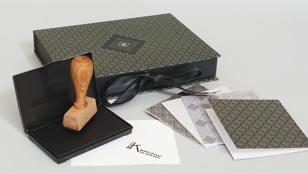 חותמת עץ אישית|כרטיסי ברכה|מארז לראש השנה|מוצרי נייר מעוצבים