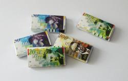 שטרות כסף משוקולד