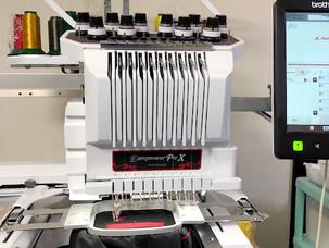 カメラ付刺繍機 PR1050X導入