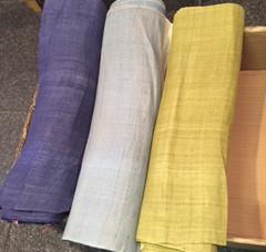 麻3色暖簾制作