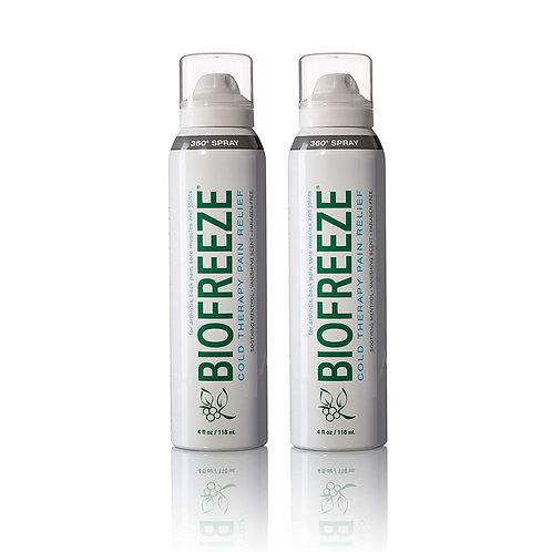 2 Bottle Pack-4 oz., 360° Spray, Biofreeze Professional