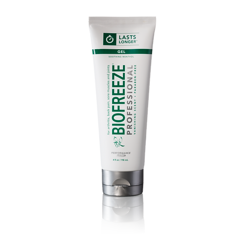 Biofreeze Professional Pain Relieving Gel, 4 Ounce Tube, Colorless Formula