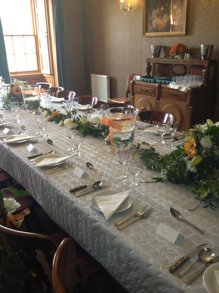 Dining Room table set for a wedding