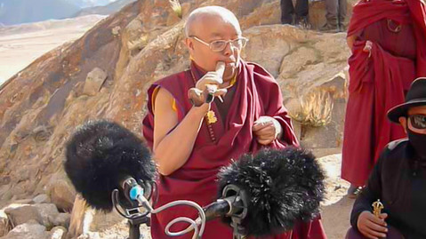 recording of a tibetan kangling (made of a human bone - leh ladakh, india)