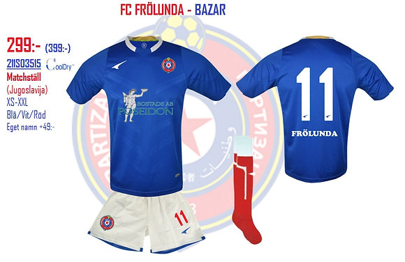 FC Frölunda Matchställ Jugoslavija