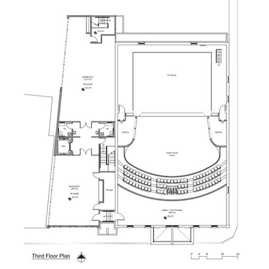 Sampson Theatre Third Floor Plan