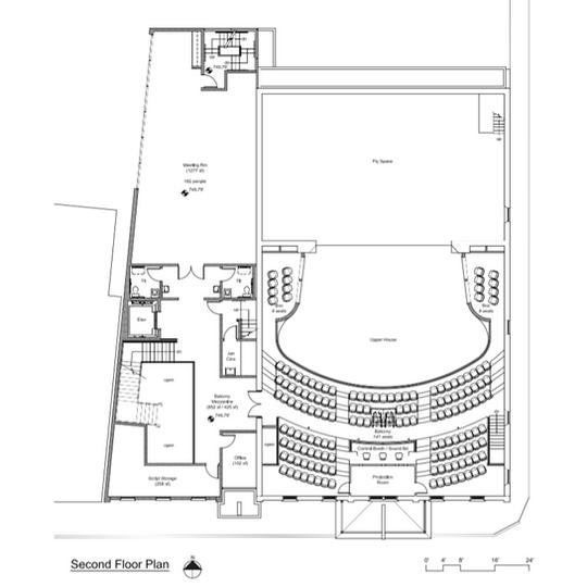 Sampson Theatre Second Floor Plan