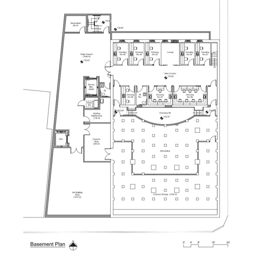 Sampson Theatre Basement Plan